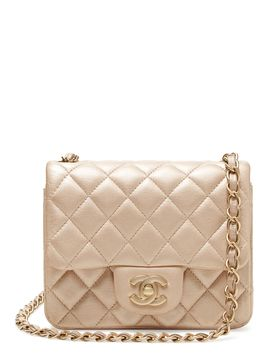 Champagne Shimmer Leather Half Flap Mini from Spring Trend #3: The Mini Handbag on Gilt
