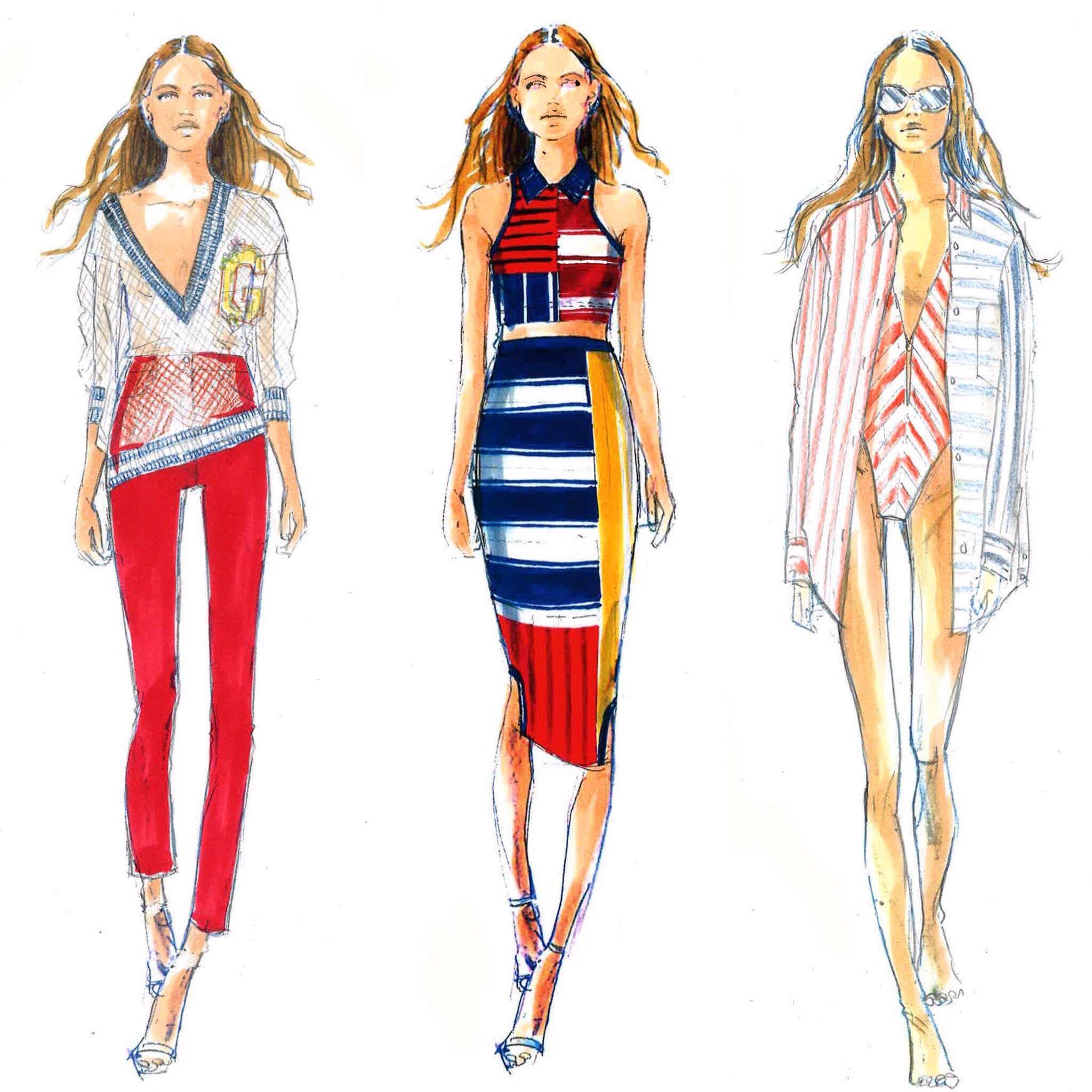 79659819 Tommy Hilfiger Sketches   Fashion design   Fashion sketches, Fashion ...