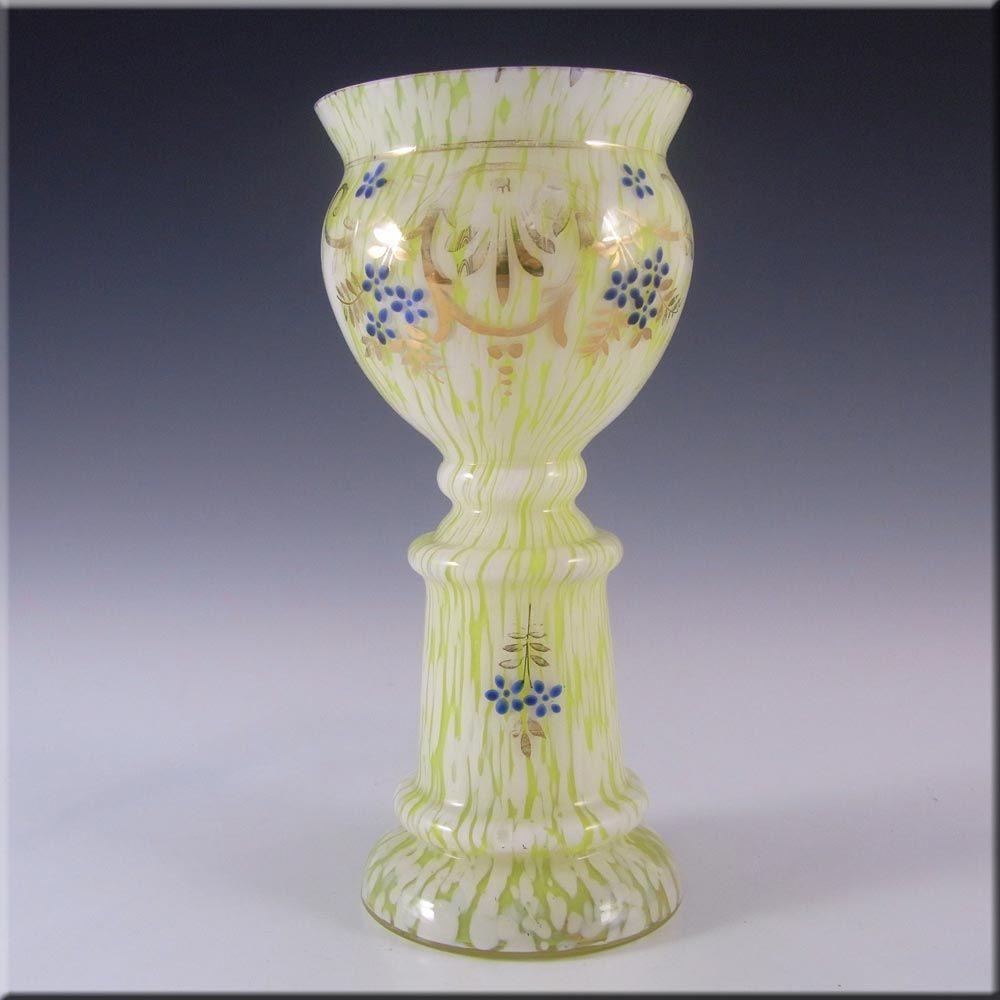 Or welz bohemian yellowwhite spatter glass vase 4 2000 moser or welz bohemian yellowwhite spatter glass vase 4 2000 reviewsmspy