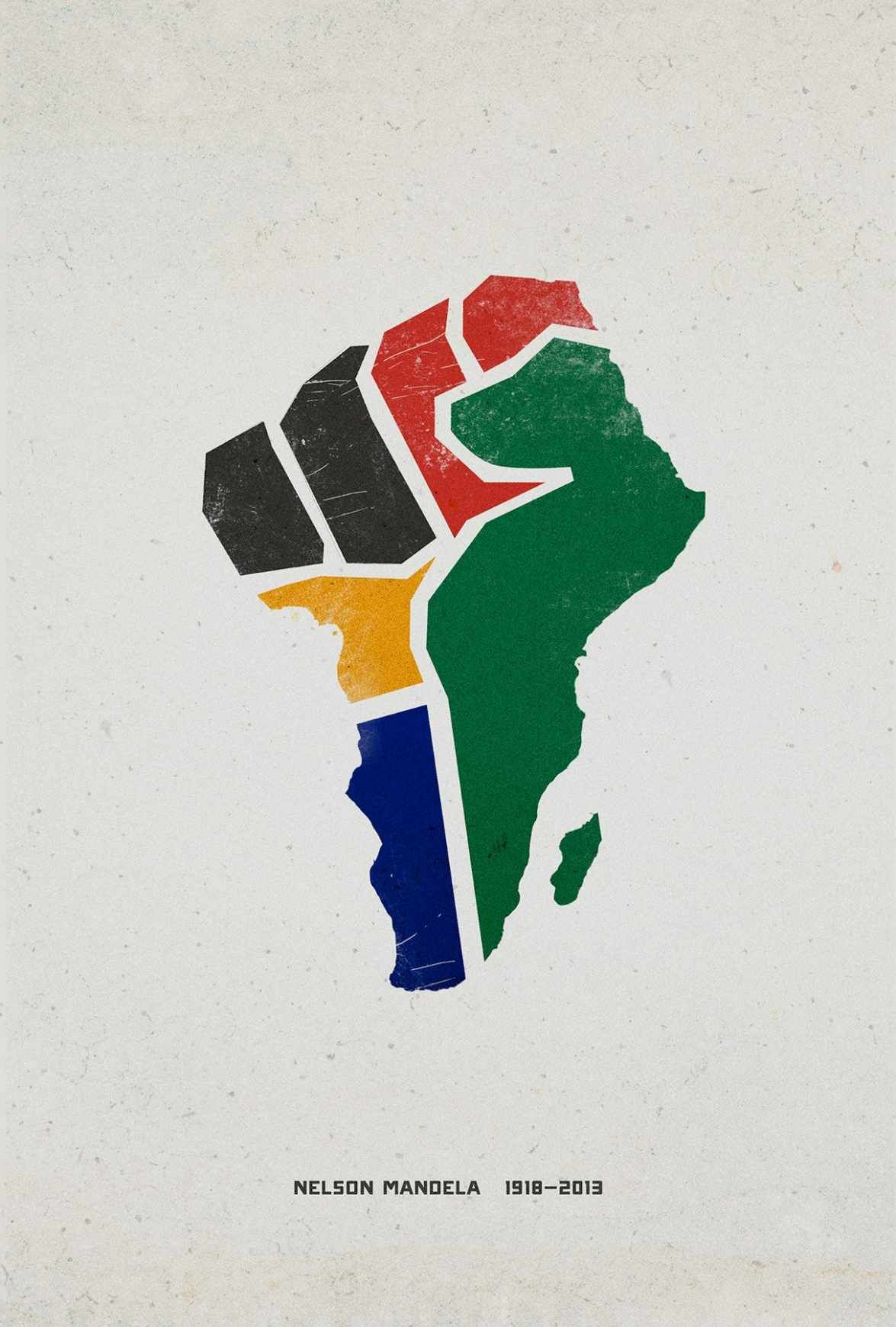 Mandela Tribute Fist Graphic design inspiration, Art