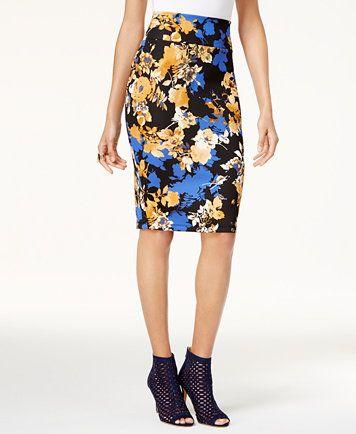 836688538f Thalia Sodi Printed Scuba Pencil Skirt, Created for Macy's | macys.com