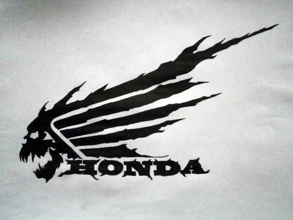honda logo art auto and motos honda bikes honda. Black Bedroom Furniture Sets. Home Design Ideas