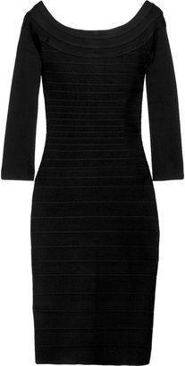 091d360ac6d ShopStyle  Hervé Léger Three-quarter sleeve bandage dress