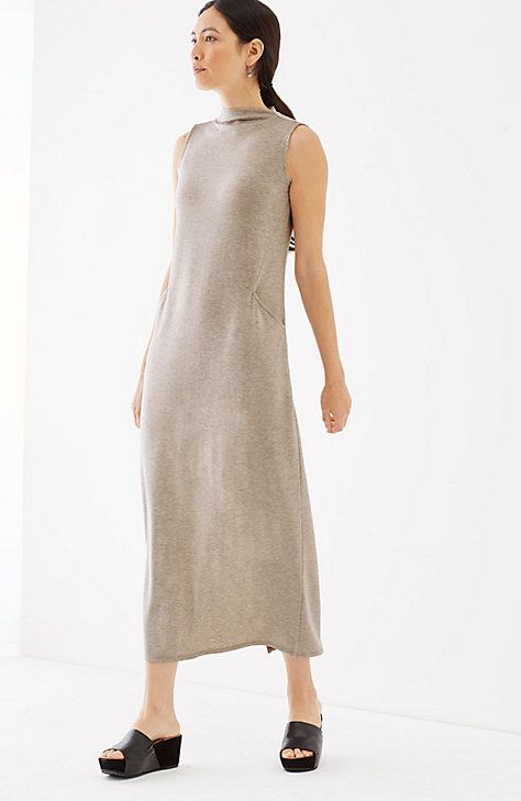 86fb4f0c6607 Pure Jill Luxe Tencel® mock-neck maxi dress | Summer Clothes ...