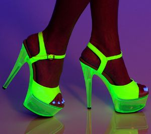 Glow - Neon Yellow Patent Platform Heels available at ...