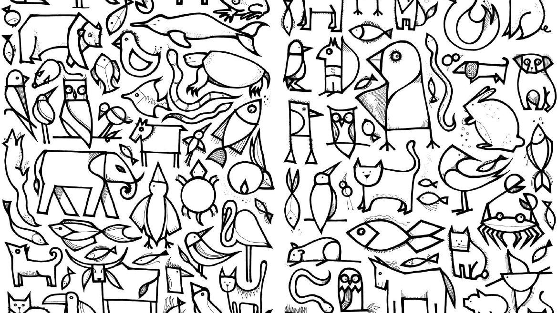 100 Colouring Book by Dominika Lipniewska | Art Journal | Pinterest ...