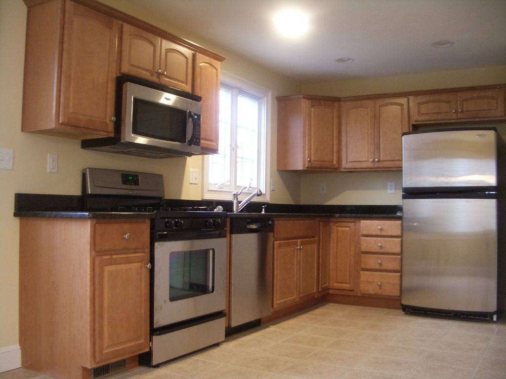 Maple cabinets kitchen cabinets stainless steel for Kitchen stainless steel cabinets