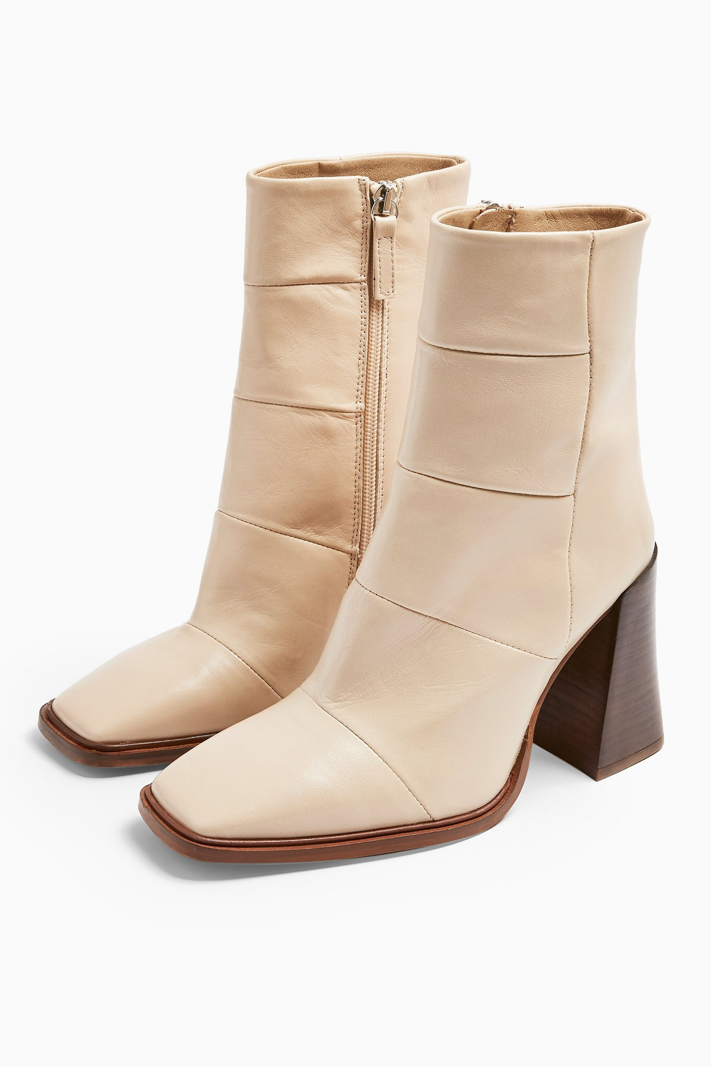 HARTLEY Leather White Boots | Boots