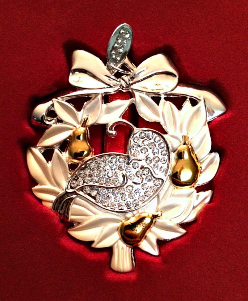 "Lenox ""Partridge in a Pear Tree"" Gemmed Christmas Ornament ..."