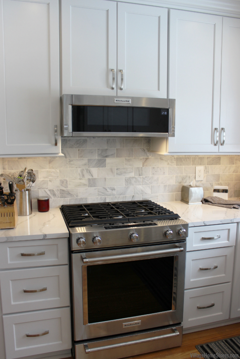 Kitchenaid Low Profile Microwave Hood And 700ess Gas Range In A Remodeled Quad Cities Kitchen Fr In 2020 Kitchen Remodel Small Kitchen Remodel Complete Kitchen Remodel