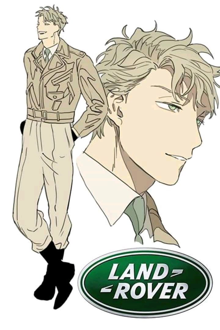 Humanized Car Squad Land Rover Anime characters