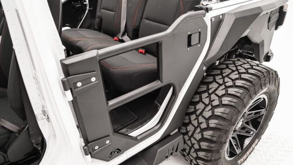 Half Tube Door Rear Fab Fours Wrangler Accessories Jeep