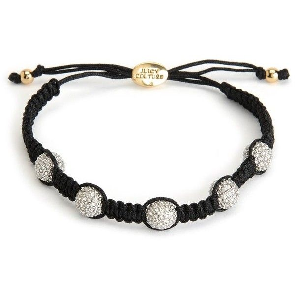 PAVE BALL FRIENDSHIP BRACELET ❤ liked on Polyvore featuring jewelry, bracelets, friendship bracelet, pave jewelry, juicy couture jewellery, ball jewelry and juicy couture jewelry
