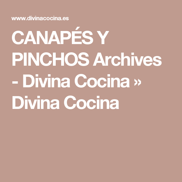 canaps y pinchos archives divina cocina divina cocina - Cocina Divina