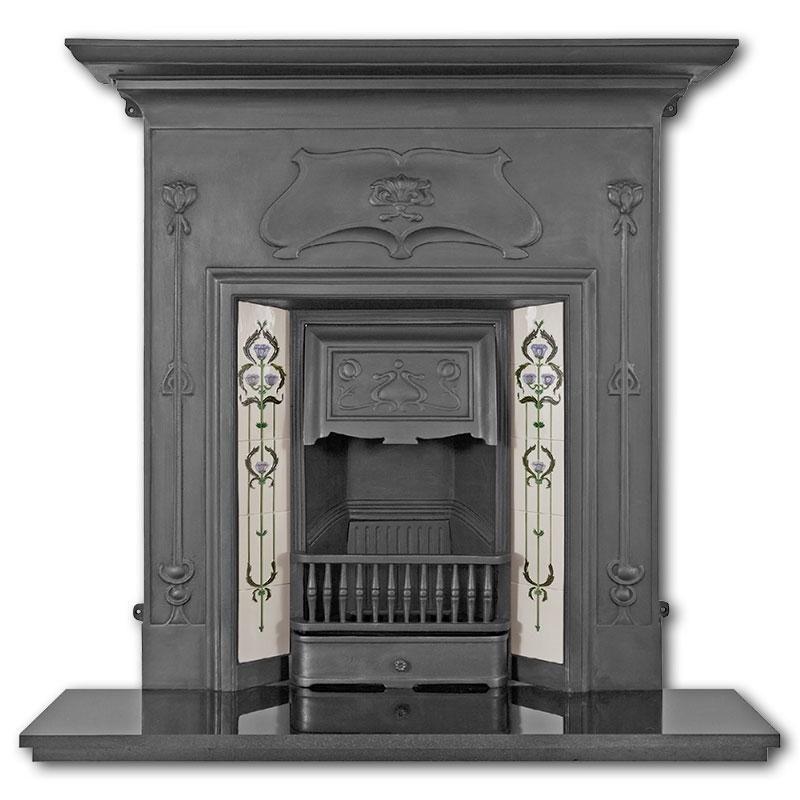 The Verona Cast Iron Combination Fireplace Black Fireplace Victorian Fireplace Verona