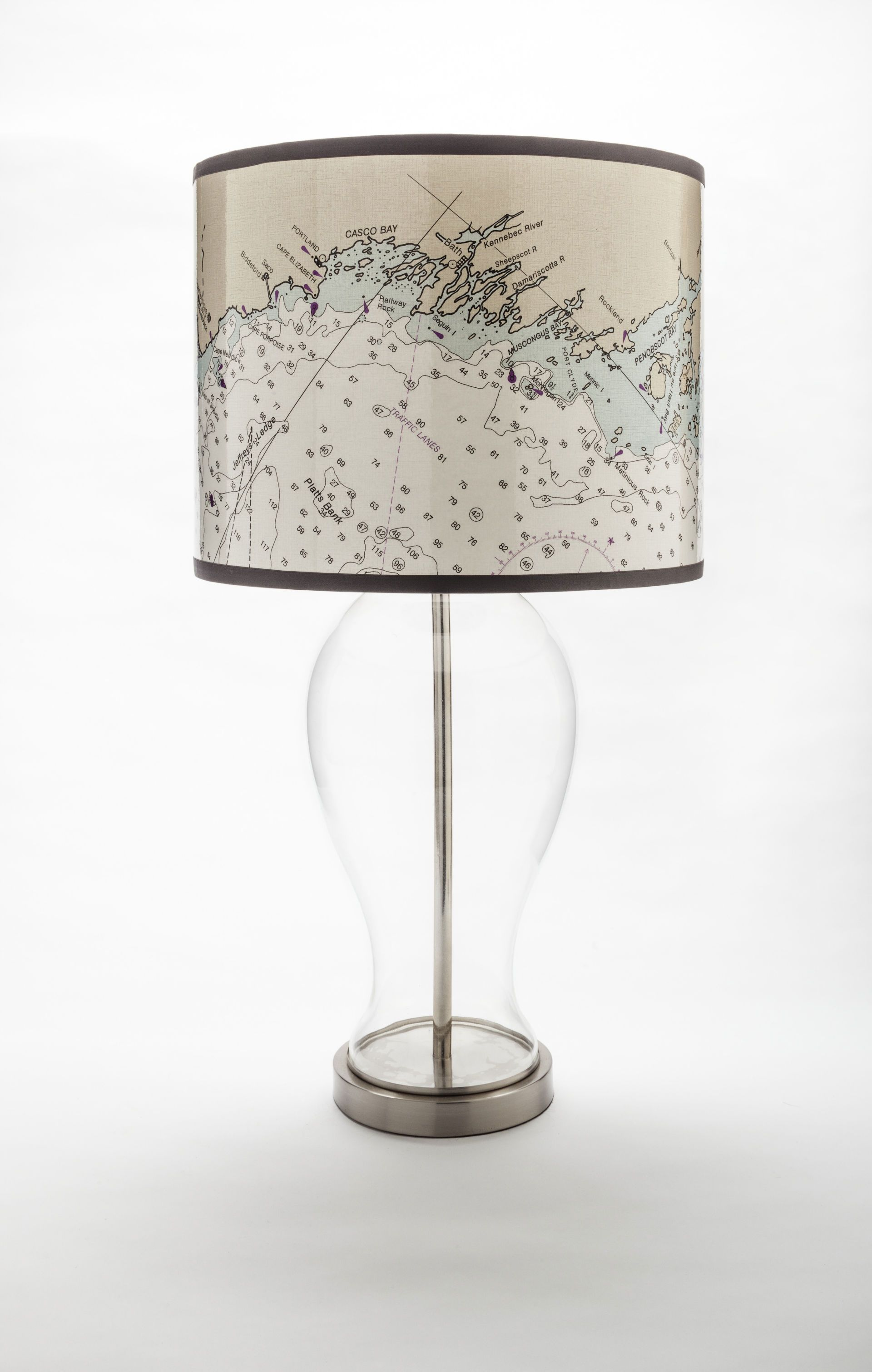 x large nautical chart lamp shade 150 theorangechairstudiocom maine gifts pinterest shades lamps and lamp shades