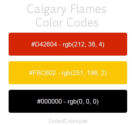 Calgary Flames Team Color Codes | NHL Team Colors | Pinterest