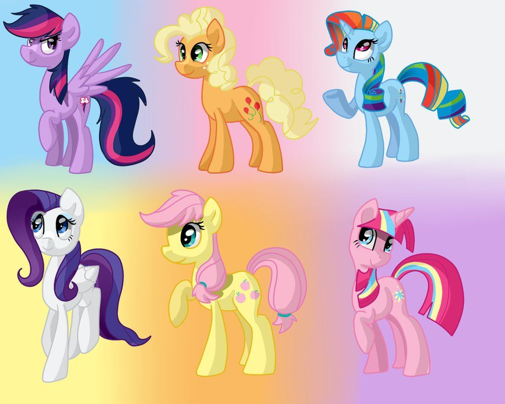 Mane 6 Colour Swap By Zoiby On DeviantART