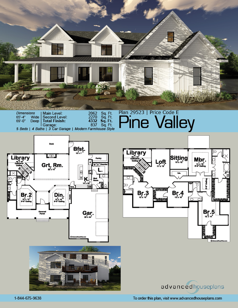 Pine valley story house modern farmhouse and porch for Contemporary farmhouse floor plans