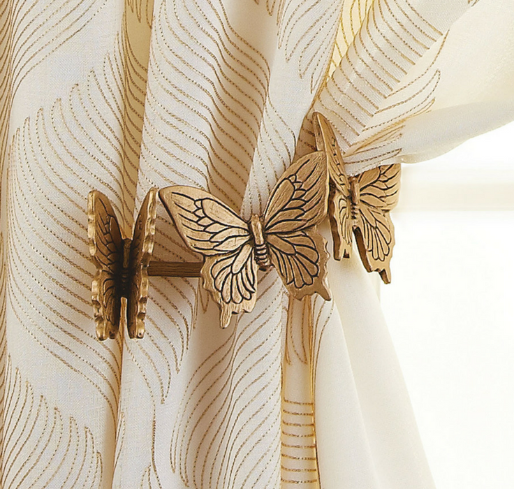 Beautiful Gold Butterfly Curtain Holders Would Be Perfect In A