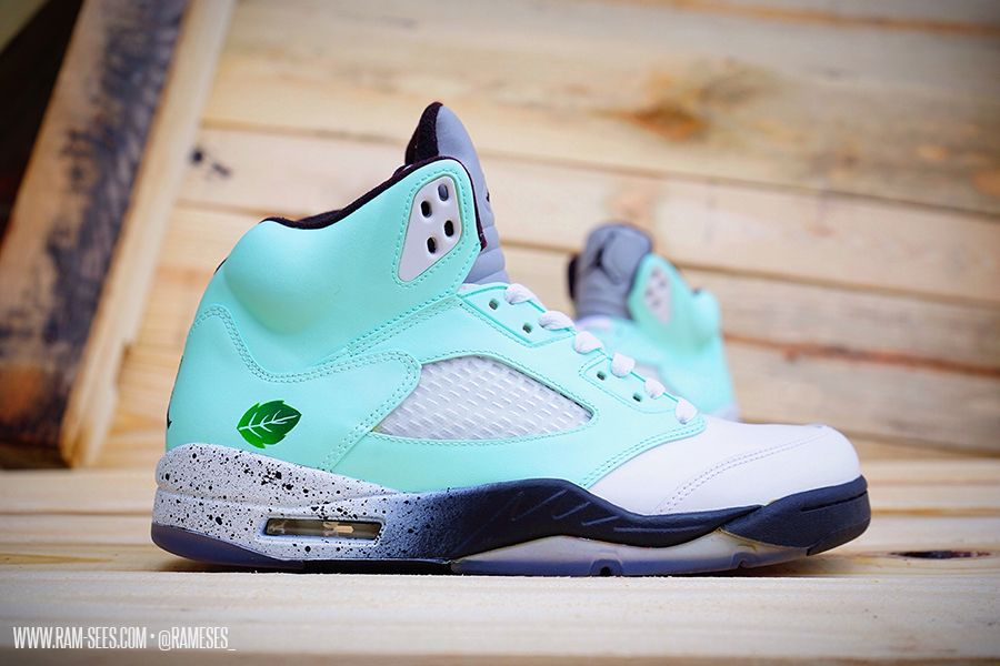 new concept 87c9c 091bc air jordan mint customs 04 Air Jordan Mint Pack Customs by Ramses