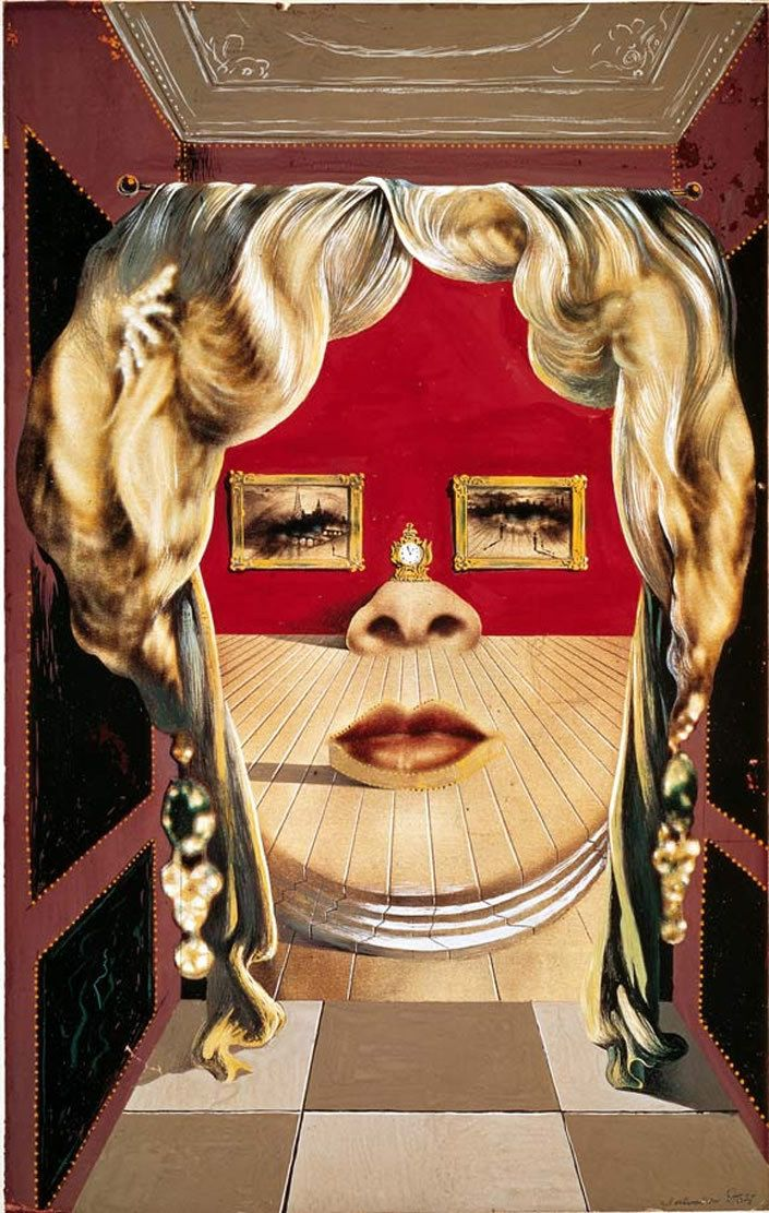 Divano Labbra Di Mae West.Il Volto Di Mae West 1934 Salvador Dali Art Dali Salvador