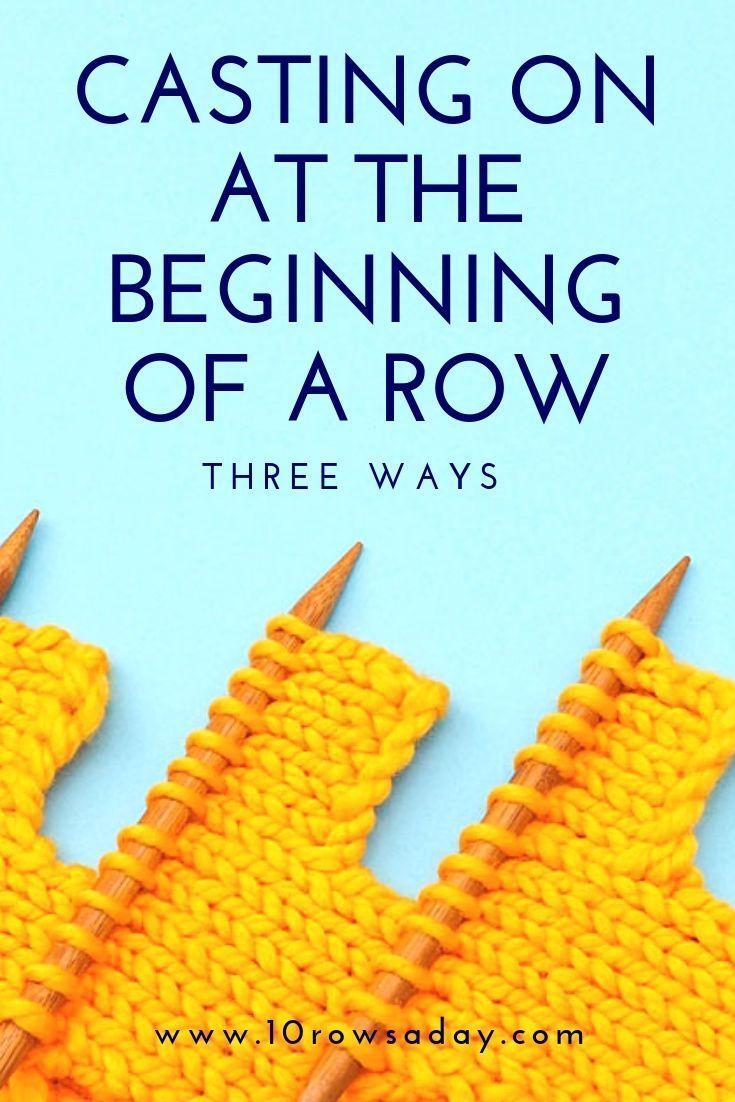 Photo of Drei Möglichkeiten, am Anfang einer Reihe Stiche zu werfen | 10 Reihen pro Tag #knitti …