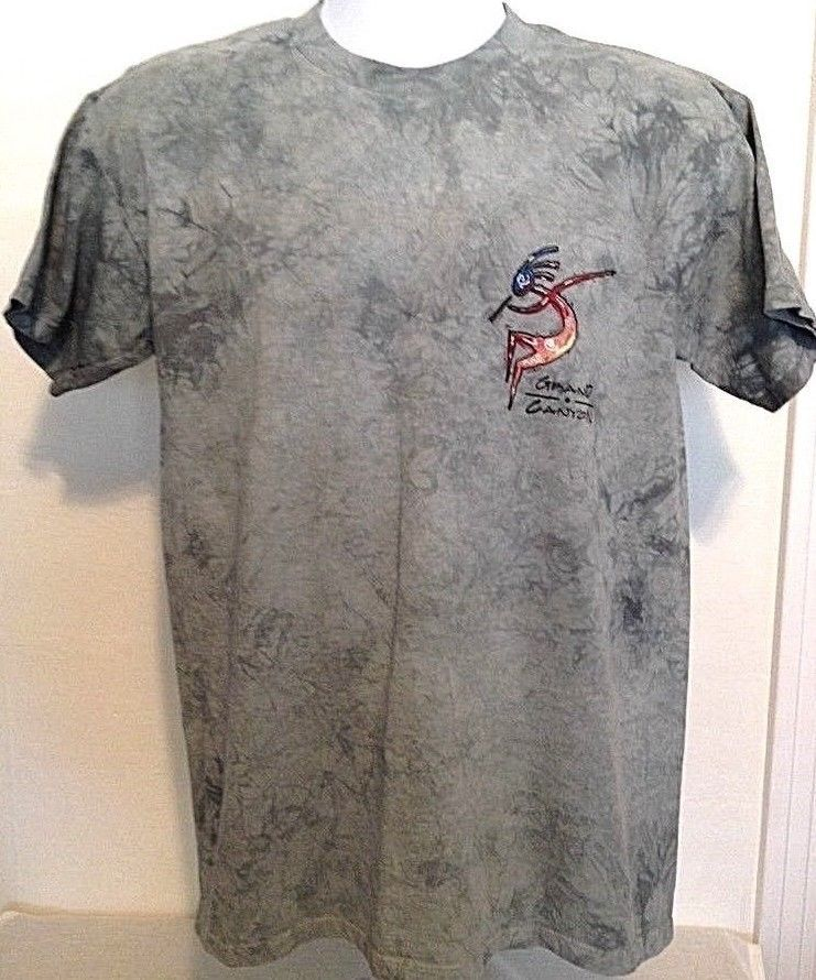 c68dd881 Fred Harvey Trading Co.Grand Canyon Tiedye Embrodiered Kokopili Shirt Sz.  Medium #FredHarveyTradingCompany #EmbellishedTeetiedye