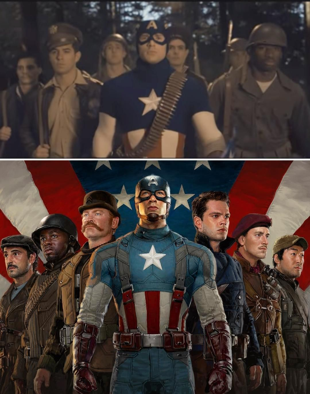 During The Star Spangled Man Musical Montage Cap Is Filming A Movie With Stand Ins Who Captain America Star Oh Captain My Captain Chris Evans Captain America