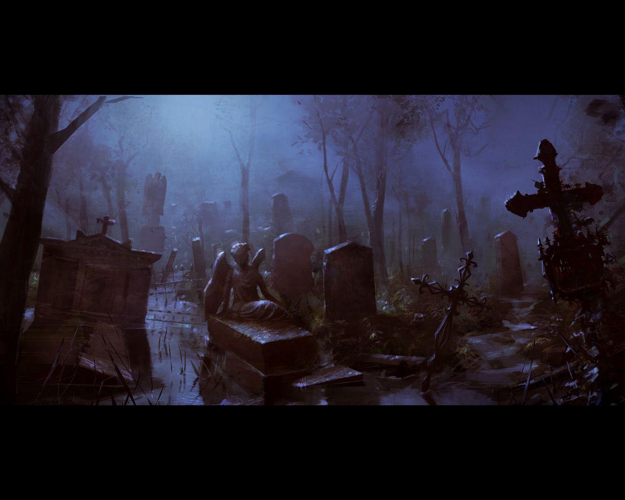 Gothic fantasy cemetery gothic fantasy wallpaper pinterest - Gothic hintergrundbilder ...