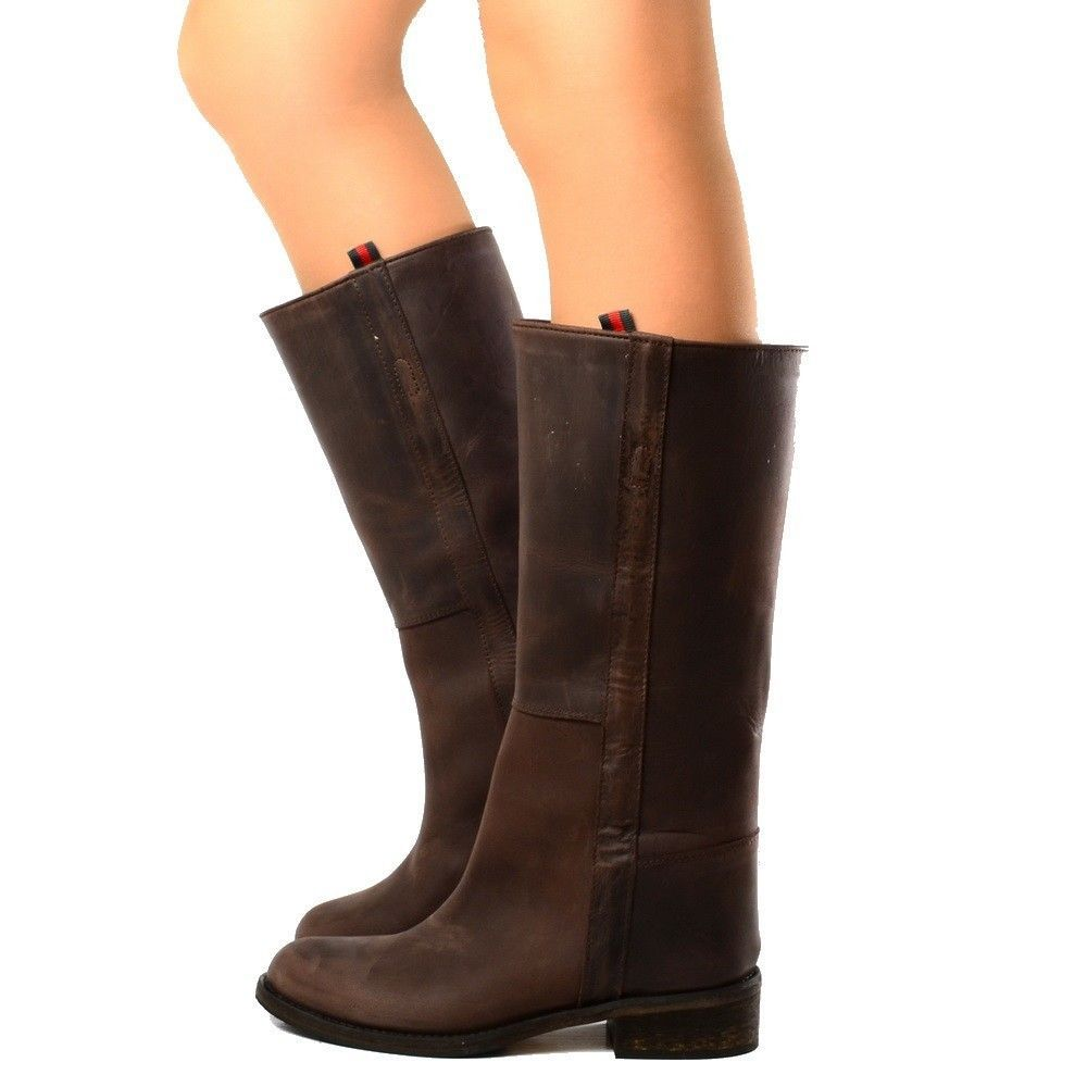 2a73a4c7ab9c7 Stivali Donna Camperos Scarpe Biker Boots Vera Pelle Nabuk Vintage  KikkiLine in Abbigliamento e accessori