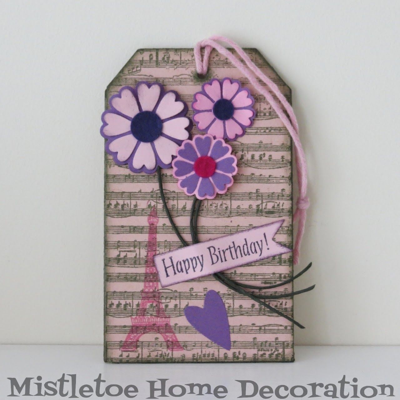 Huge birthday tag with music sheet eiffel tower and flowers huge birthday tag with music sheet eiffel tower and flowers sizzix bookmarktalkfo Choice Image
