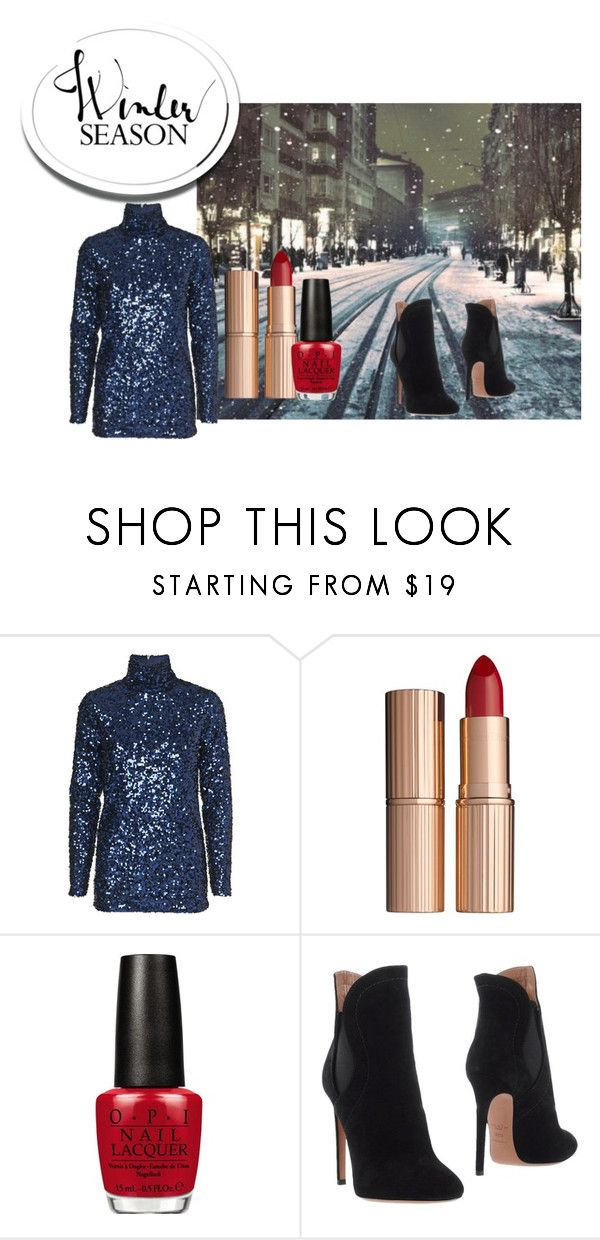 """Party look"" by gabriela-kiteva on Polyvore featuring Charlotte Tilbury, OPI and Alaïa"