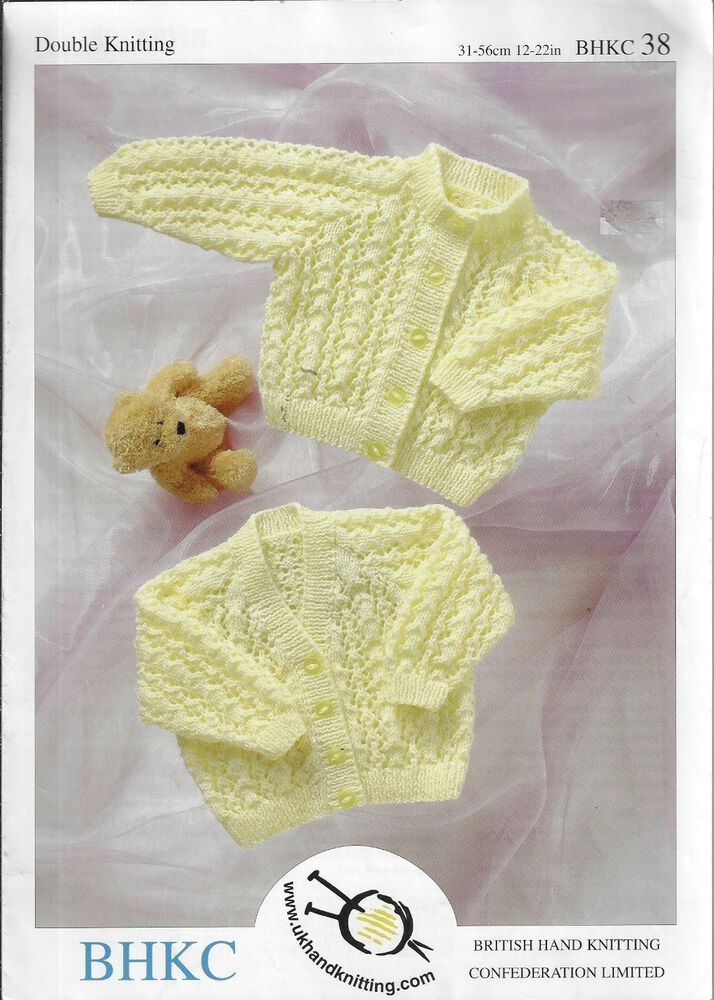 51c3a858a7dc Details about Baby Lace Cardigans BHKC   38 knitting pattern DK yarn ...