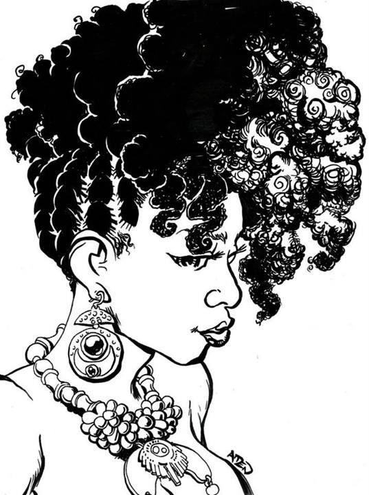 Naturally Beautiful Hair Art By Ghettomanga Natural Hair Art Natural Hair Styles Afro Art