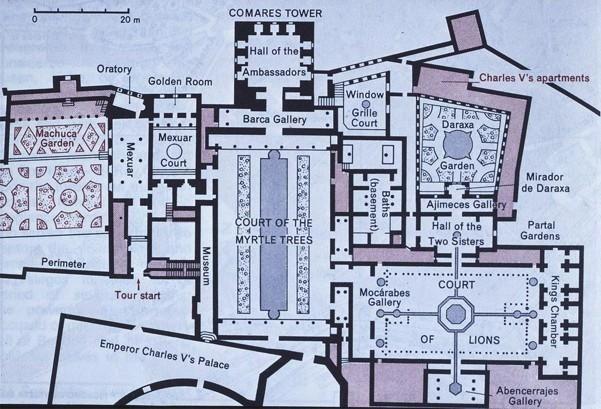 alhambra plan floorplans pinterest