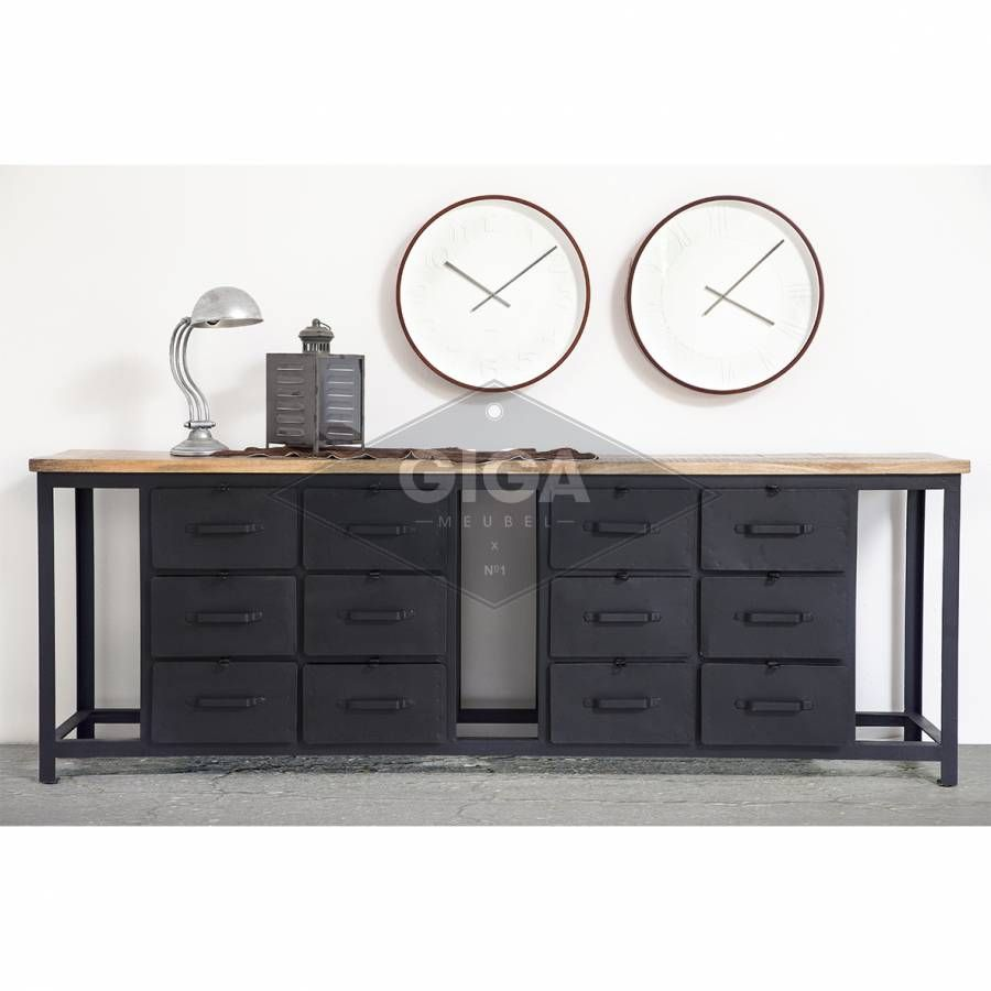Vintage industrieel en retro meubelen bij giga meubel hal pinterest industrieel dressoir - Oude meubilair dressoir ...