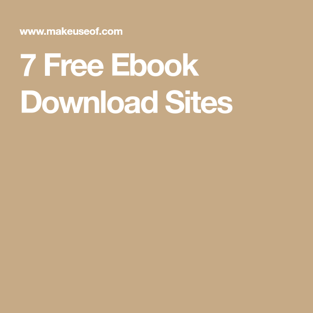 7 Free Ebook Download Sites #freereadingincsites