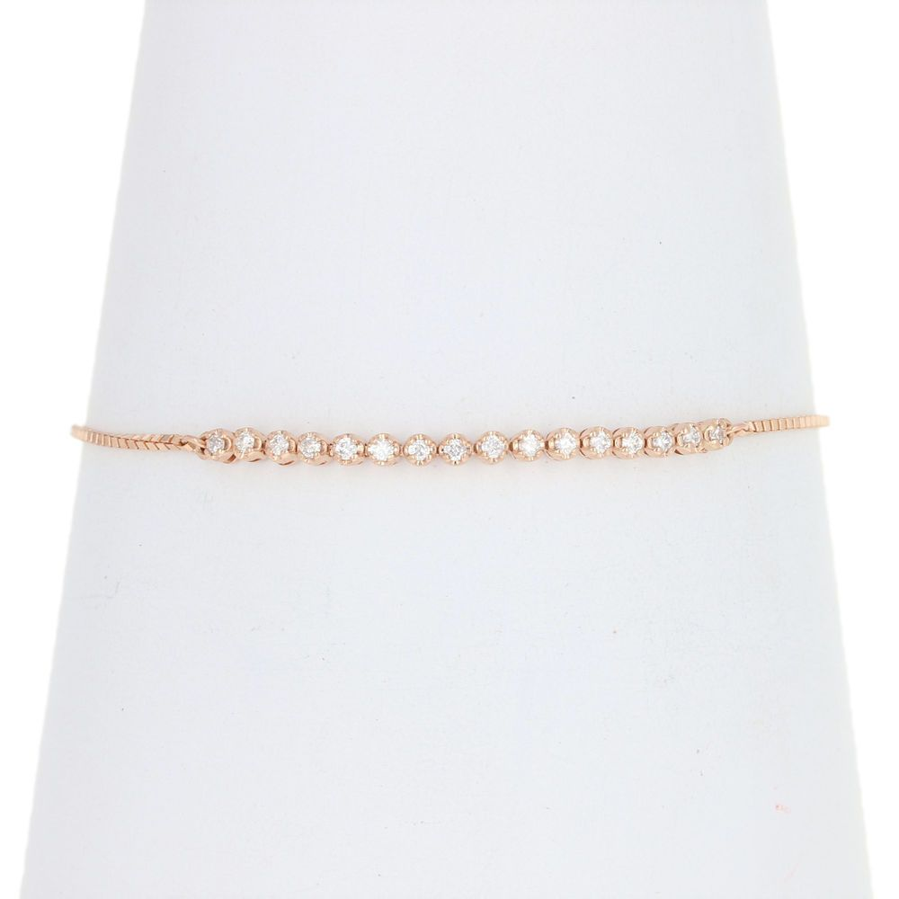 Diamond Bracelet 10k Rose Gold Adjustable Box Ebay Pinterest Ebay Pinterest Amazon Cuff Gold Bracelet Costumejewelry Silver Bracelets Gold