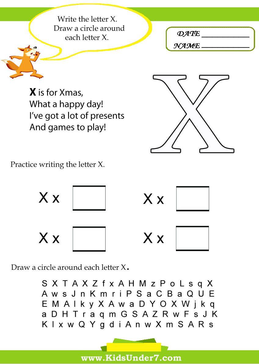 kids under 7 letter x worksheets school worksheets lettering alphabet. Black Bedroom Furniture Sets. Home Design Ideas