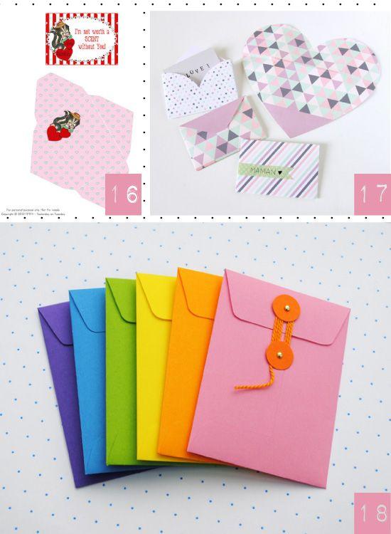 Exceptionnel Faire ses propres enveloppes | Projets à essayer | Pinterest  UW86