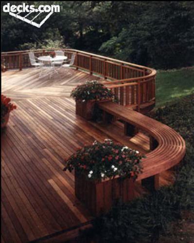 Curved Deck Deck Designs Backyard Beautiful Backyards Backyard