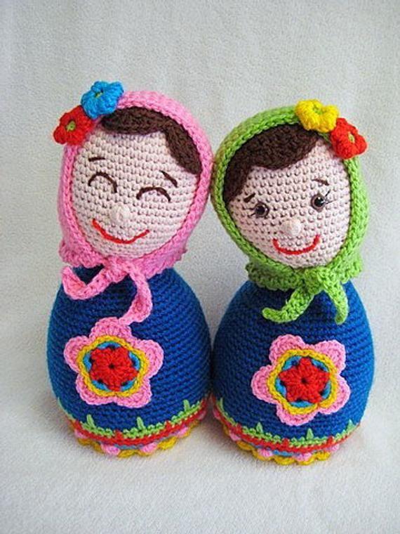 Russian Doll Amigurumi PDF CROCHET PATTERN Matryoshka ...