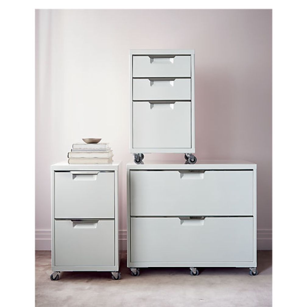 Modern Filing Cabinet 179 00 Cb2 Available In Black White In 2020 Filing Cabinet Drawer Filing Cabinet Office Supplies Design