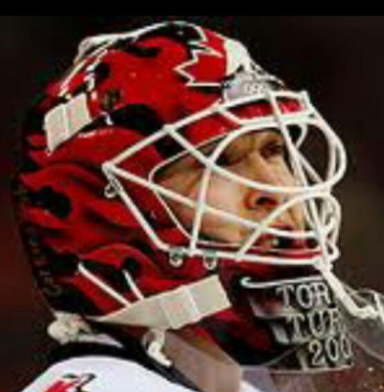 Martin Brodeur Team Canada Olympic Mask Goalies Masked Marvels