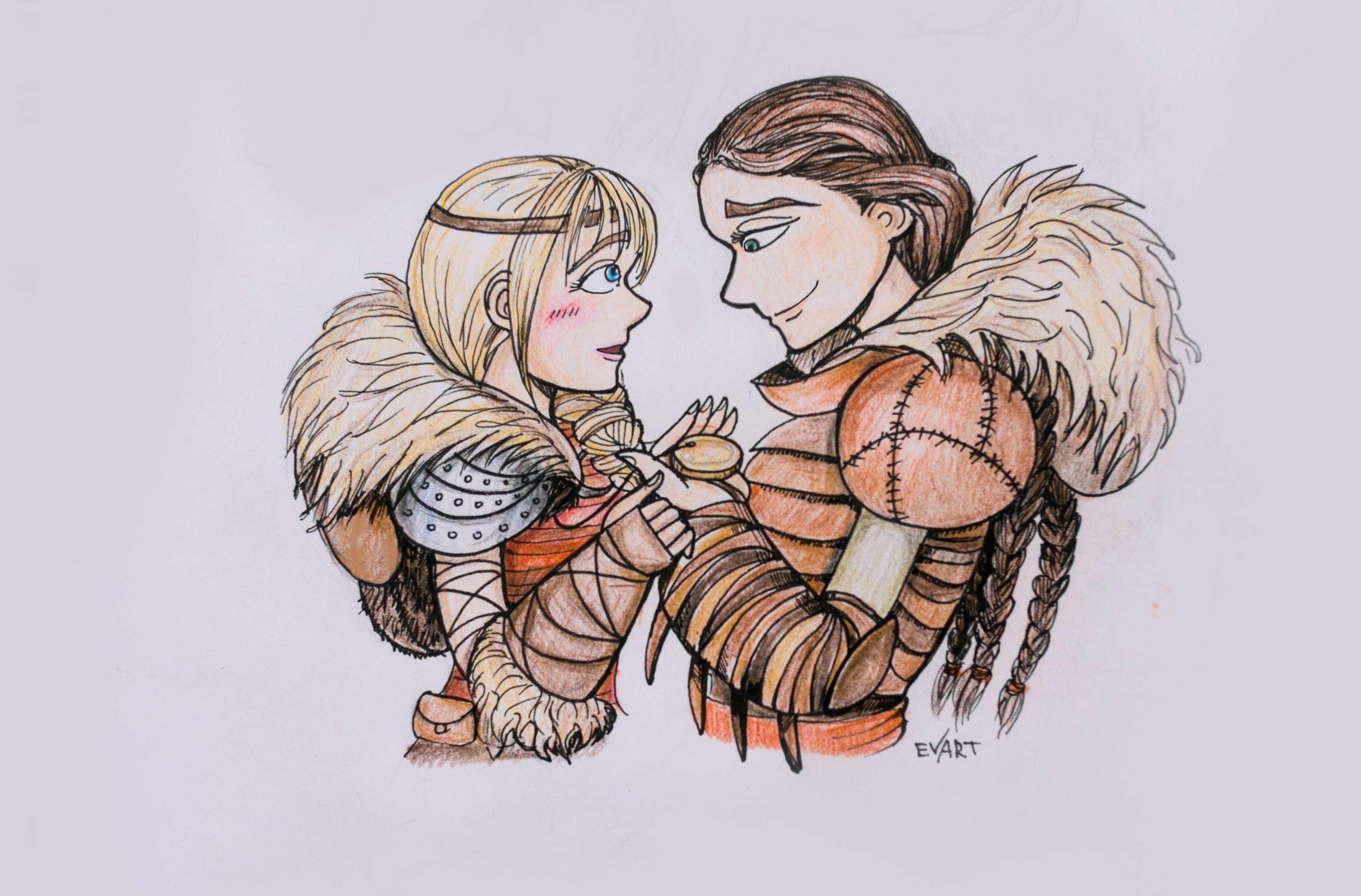 Valka and Astrid (with Stoick/Hiccup betrothal necklace
