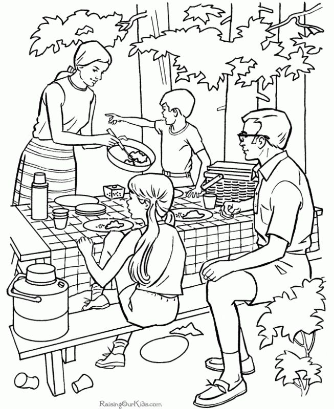 Camping activity coloring pages | Holiday Coloring Pages | Pinterest