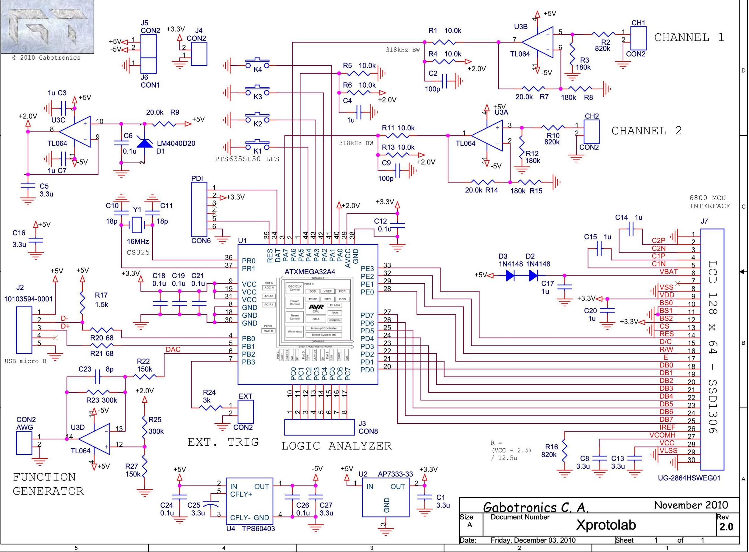Variable Dc Power Supply Circuit Diagram Wiring Diagrams Schematic Mixed Signal Oscilloscope Xprotolab On Atxmega32