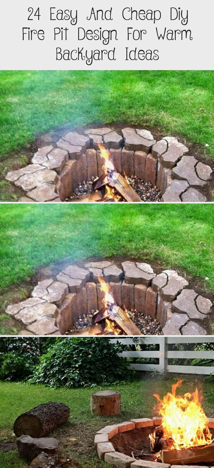 Photo of 24 Easy And Cheap Diy Fire Pit Design For Warm Backyard Ideas – Backyard İdeas