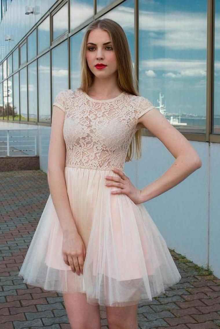 Mermaid Sweetheart Cap Sleeve Low Back Yellow Lace Tulle